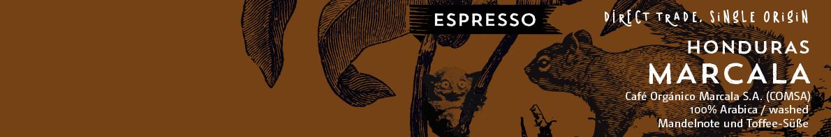 Honduras Marcala Espresso Etikett